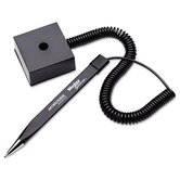 Wedgy Secure Ballpoint Stick Coil Pen with Square Base