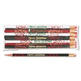 Decorated Wood Pencil, Merry Christmas, 12/Pack