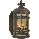 Espana Outdoor Wall Lantern in Rustic Iron