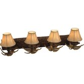 Antler Vanity Light in European Bronze