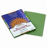 SunWorks Construction Paper, Heavyweight, 9 x 12, Holiday Green, 50 Sheets