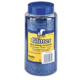 Spectra Plastic Glitter Crystals, .04 Hexagons, 1-lb. Jar, Blue