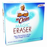 Mr. Clean Magic Eraser Foam Pad, 3 x 3, White, 4/box