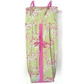 Cherry Blossom Diaper Stacker in Pink / Green