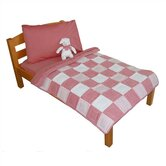 Tadpoles Classic Gingham Toddler Bedding Collection in Red