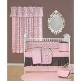 Tadpoles Toile Crib Bedding Collection in Pink and Brown