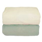 Tadpoles Organic Flannel Fitted Crib Sheets in Sage and Natural (Set of 2)