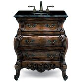 "Premier Collection Lorraine 30"" Bath Vanity Set in Aged Chestnut"