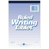 Writing Tablet, 6&quot;x9&quot;, 100 Sheets, Wide, White