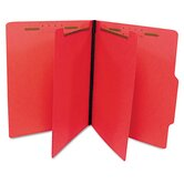 Economy Classification Folders, Letter, Six-Section, 25/Box