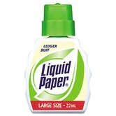 Liquid Paper Correction Fluid, 22ml Bottle, Ledger Buff