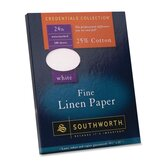 "Linen Paper, 24 lb., 8-1/2""x11"", 100 Sheets per Box, White"