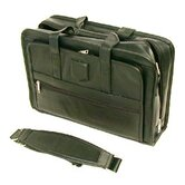 Executive Leather Computer Case in Black