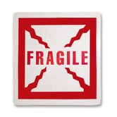 Shipping Label, Fragile, 500 per Roll, Red