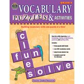 Vocabulary Puzzles &amp; Activities Gr5