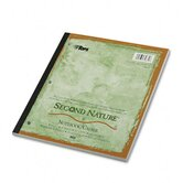 Second Nature Subject Notebook, College Margin/Rule, Ltr, White, 80 Sheets