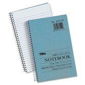Blue Kraft Notebook, College Rule, 5 x 7-3/4, White, 80 Sheets/Pad