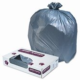 Industrial Strength Low-Density Commercial Can Liners, 60gal,1.3mil,Gray,100/ctn