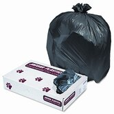 Industrial Strength Low-Density Commercial Can Liners, 33gal, .62mil, Black, 200