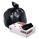 Industrial Strength Low-Density Commercial Can Liners, 56 gal,43x47,BLK, 100/ctn