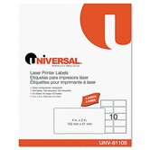 Laser Printer Permanent Labels, 500/Box