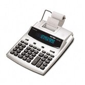 1225-3A Antimicrobial Desk Calculator, 12-Digit Fluorescent, Two-Color Printing