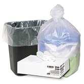 Ultra Plus Can Liners, 7-10 gal, 8mic, 24 x 24, Natural, 20 Rollls of 50 Bags
