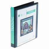 "Heavy-Duty D-Ring Vinyl View Binder, 1"" Capacity"