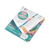 Multi-Dex Quick Reference Index, 26-Tab, Letter (Set of 26)