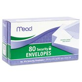 Security Envelope, 3 5/8 X 6 1/2, 20 Lb, 80/Box