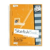 Wirebound Sketch Book, w/ Pockets, 11&quot;x8-1/2&quot;, 70 Sheets