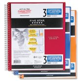 Five Star 3 Subject Customizable Notebook