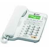 Speakerphone,w/CID/Call Waiting, 65 Name Capacity, Trilingual, White