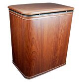 Wood Grain Vinyl Hamper in Cherry