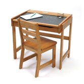 "24.75"" W Art Desk with Chalkboard Top and Chair"