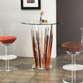 "Crystals Bar Stand Multicolor Glass 36"" R 1/2"" Thick"