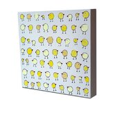 Lotsa Organized Chicks Original Canvas Painting
