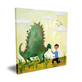 Wit & Whimsy Dino African American Canvas Art