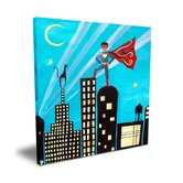 Wit & Whimsy African American Superhero Canvas Art