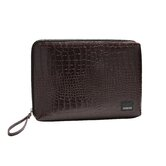 Classic Croc Matte Laptop Sleeve in Dark Brown