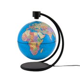 "8"" Levitating Political Blue Ocean Globe"