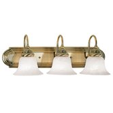 Belmont  Vanity Light in Antique Brass