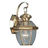 Monterey  Outdoor Wall Lantern in Antique Brass