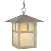 Montclair Mission  Outdoor Hanging Lantern in Verde Patina