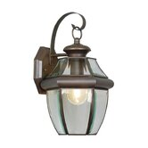 Monterey  Outdoor Wall Lantern in Bronze and Beveled Glass