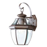Monterey  Outdoor Wall Lantern in Imperial Bronze and Beveled Glass