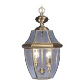 Monterey Outdoor Hanging Lantern in Antique Brass