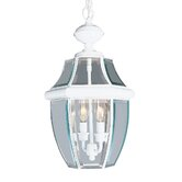 Monterey Outdoor Hanging Lantern in White