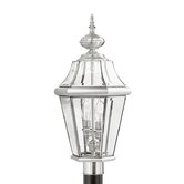 Georgetown  Outdoor Post Lantern in Brushed Nickel
