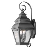 Exeter  Outdoor Wall Lantern in Black